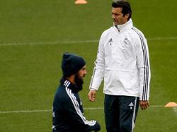 Isco y Solari en un entrenamiento reciente. (Foto: Getty)