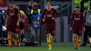 Nicolò Zanilo (M.) traf doppelt für die AS Roma