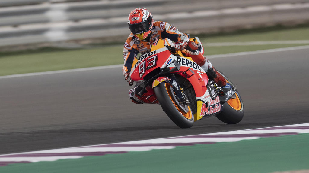 Marc Marquez verbuchte in Katar die Top-Speeds