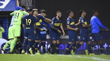 Boca celebra tras el último penalti convertido. (Foto: Getty)