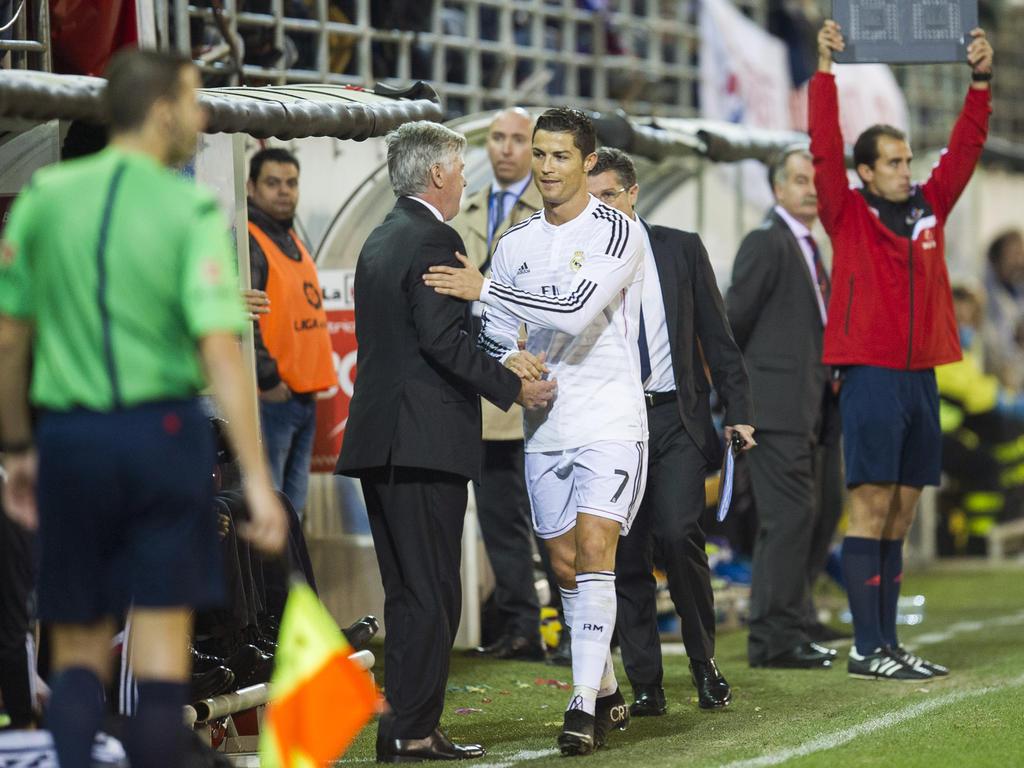 Keine Wiedervereinigung beim FC Bayern: Ancelotti (l.) und Ronaldo