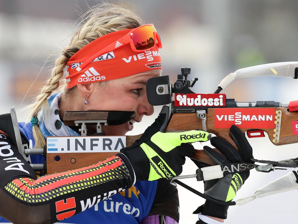 Denise Herrmann wechselte im letzen Jahr vom Langlauf zum Biathlon
