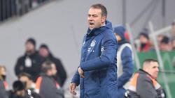Hansi Flick sah eine schlechte zweite Halbzeit seines FC Bayern