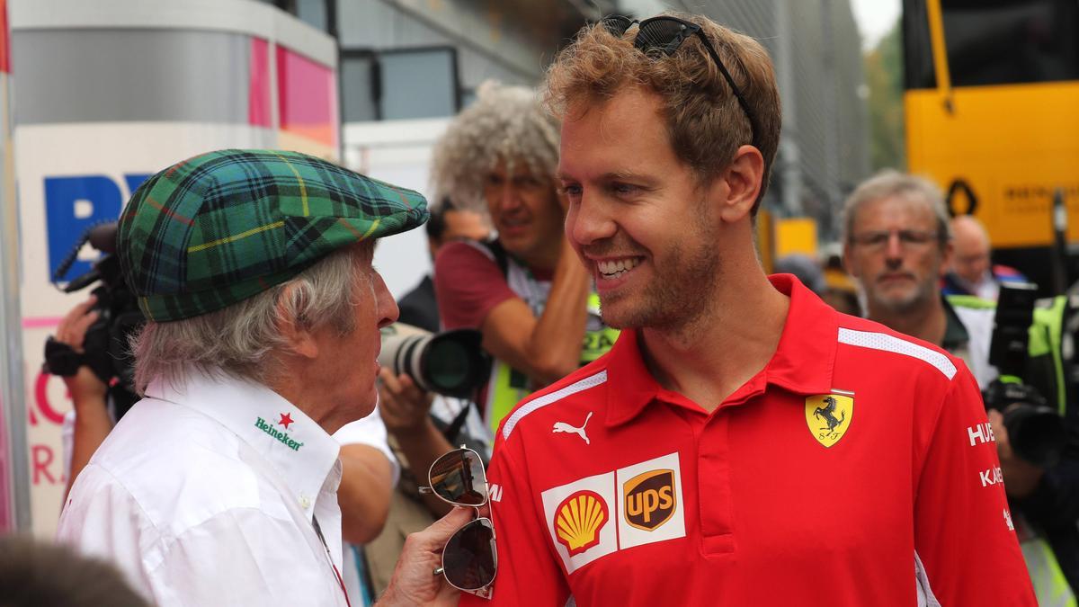 Jackie Stewart (li.) hat sich zur Zukunft von Vettel und Hamilton geäußert