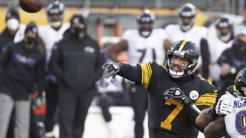 Quarterback Ben Roethlisberger von den Pittsburgh Steelers in Aktion