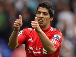 Luis Suárez en su época con la camiseta roja del Liverpool FC. (Foto: Getty)