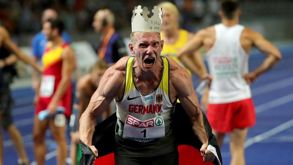 Was für Emotionen! Nach dem 1500-m-Lauf steht Abele als Europameister fest