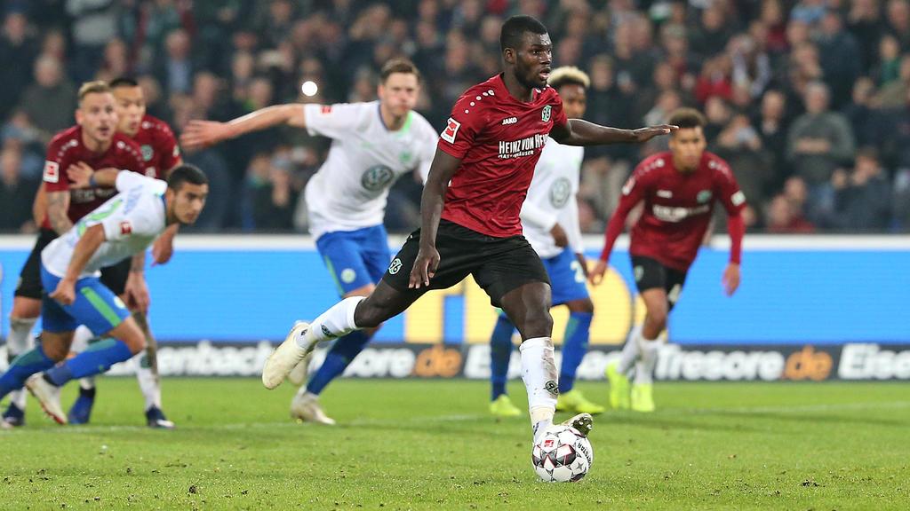 Ihlas Bebou traf für Hannover zum letztlich vorentscheidenden 2:0
