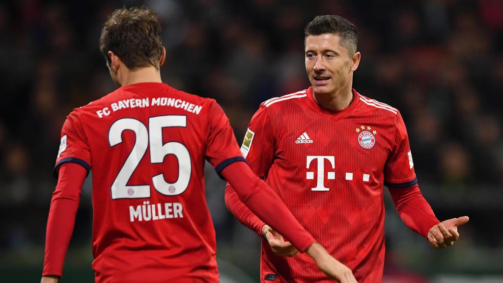 Robert Lewandowski (r.) und Thomas Müller haben beim FC Bayern intern Gespräche geführt