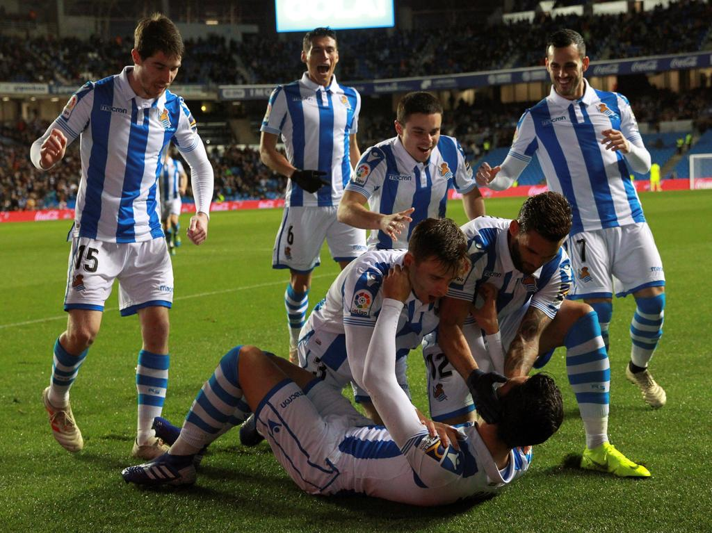 Mikel Merino abrió el marcador contra el Espanyol. (Foto: Getty)