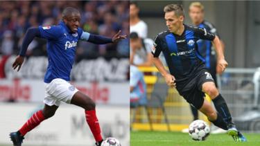 David Kinsombi (li.) und Philipp Klement werden beim HSV gehandelt
