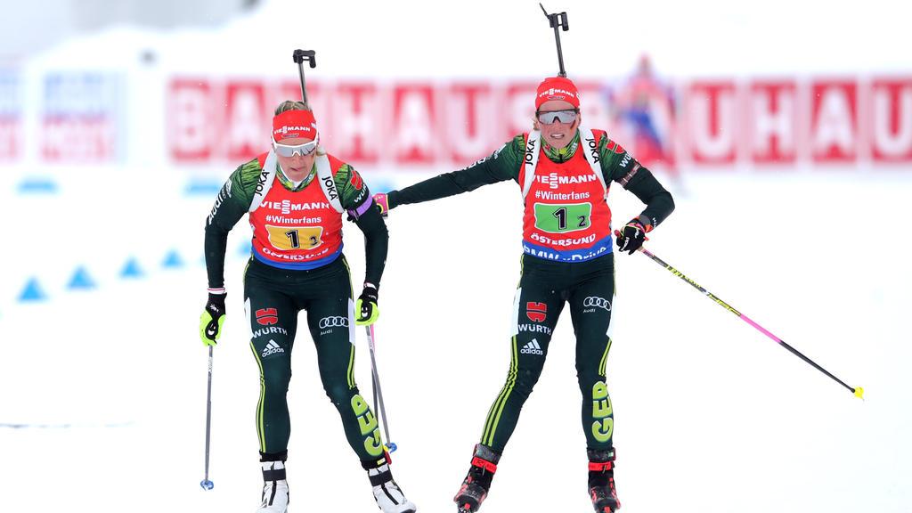 Die deutschen Biathlon-Damen landeten am Ende auf Platz 4