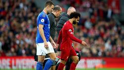 Mo Salah musste gegen Leicester vorzeitig vom Platz