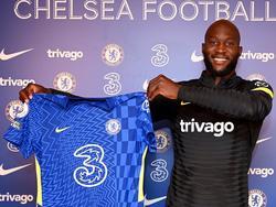 Lukaku en su puesta de largo con la camiseta del Chelsea.