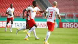 Amadou Haidara brachte RB Leipzig bereits in der 3. Minute in Führung