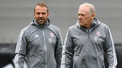 Hansi Flick und Hermann Gerland (r.) beim FC Bayern München