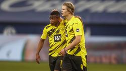 Stehen die beiden BVB-StürmerYoussoufa Moukoko und Erling Haaland und bald gemeinsam auf dem Platz?