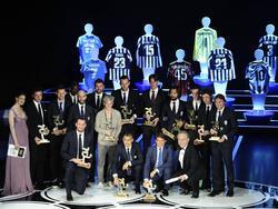Gruppenfoto der Oscar-del-Calcio-Preisträger 2013