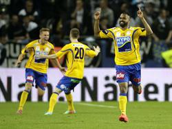Der SKN St. Pölten jubelt über den Europacup-Einzug