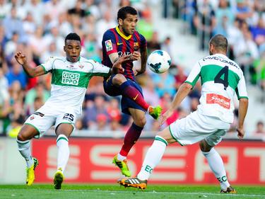 Dani Alves, difensore del Barcellona e della nazionale brasiliana