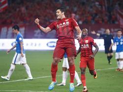 Hulk celebra un gol con el Shanghai SIPG. (Foto: Imago)
