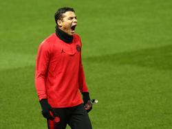 Thiago Silva en un entrenamiento con el PSG. (Foto: Getty)