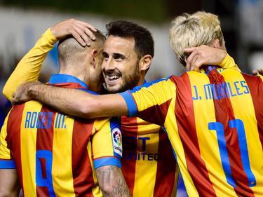 Levante-spelers juichen na een gemaakt doelpunt