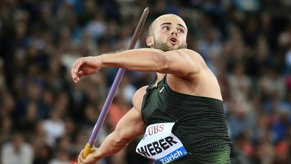 Julian Weber gewann den Speerwurf-Wettbewerb