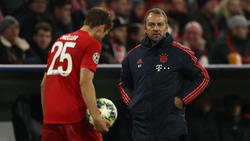 Wie geht es für Thomas Müller (l.) und Hansi Flick beim FC Bayern weiter?