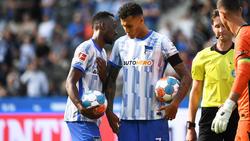 Die Hertha-Profis waren sich uneins, wer den Elfmeter schießen soll