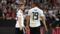 Timo Werner und Leroy Sané (r.) werden beim FC Bayern München gehandelt