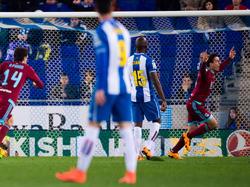 Mikel Oyarzabal feiert seine Torpremiere in La Liga
