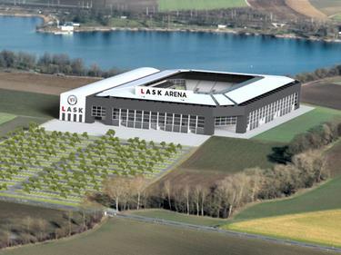 Die Pläne für diese LASK-Arena sind bereits ad acta gelegt