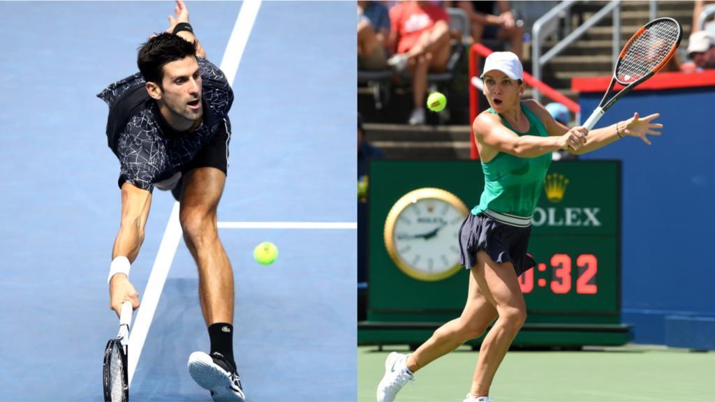 Djokovic und Halep (re.) sind ausgezeichnet worden
