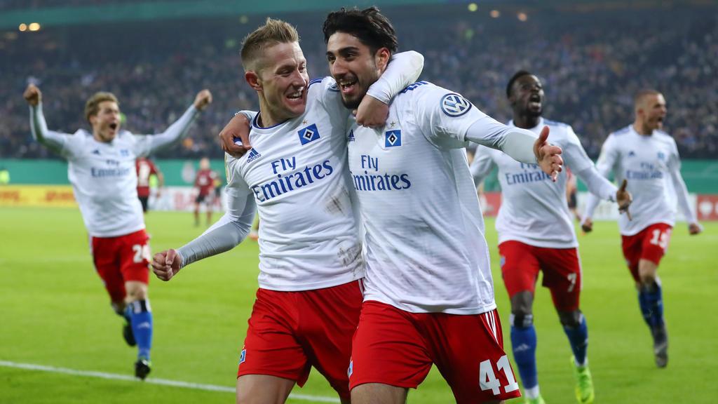 Der HSV konnte den 1. FC Nürnberg aus dem DFB-Pokal werfen
