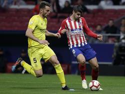 Morata no acabó el choque ante el Girona en el Wanda. (Foto: Getty)