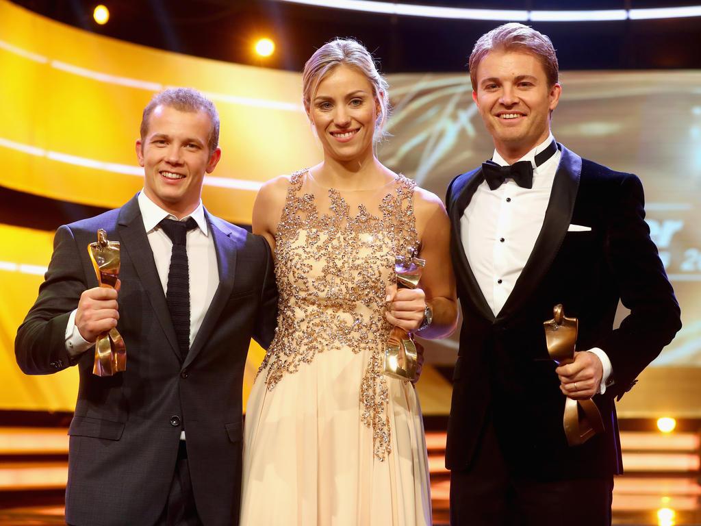 Fabian Hambüchen, Angelique Kerber und Nico Rosberg wurden geehrt