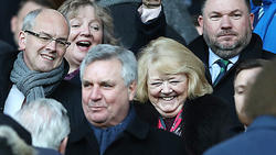 Hearts owner Ann Budge is seen during the Ladbrokes Premiership match between Rangers and Hearts.