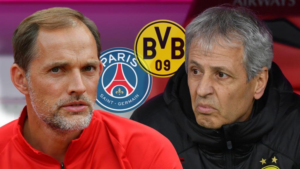 Thomas Tuchel und Lucien Favre stehen bei PSG und beim BVB unter Druck