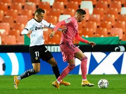 Valverde en el partido contra el Valencia.