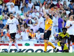 Adil Rami sieht gegen Swansea früh  Rot