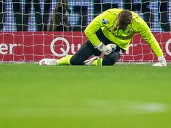 Alessandro Damen baalt na een tegentreffer tijdens het competitieduel Excelsior - Willem II. (14-03-2015)