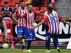 El Sporting logró la igualada final en el descuento del partido del lunes. (Foto: Getty)