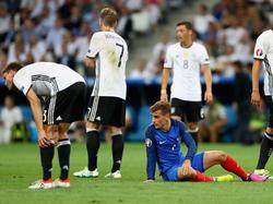 Imagen del partido entre Francia y Alemania de ayer. (Foto: Getty)