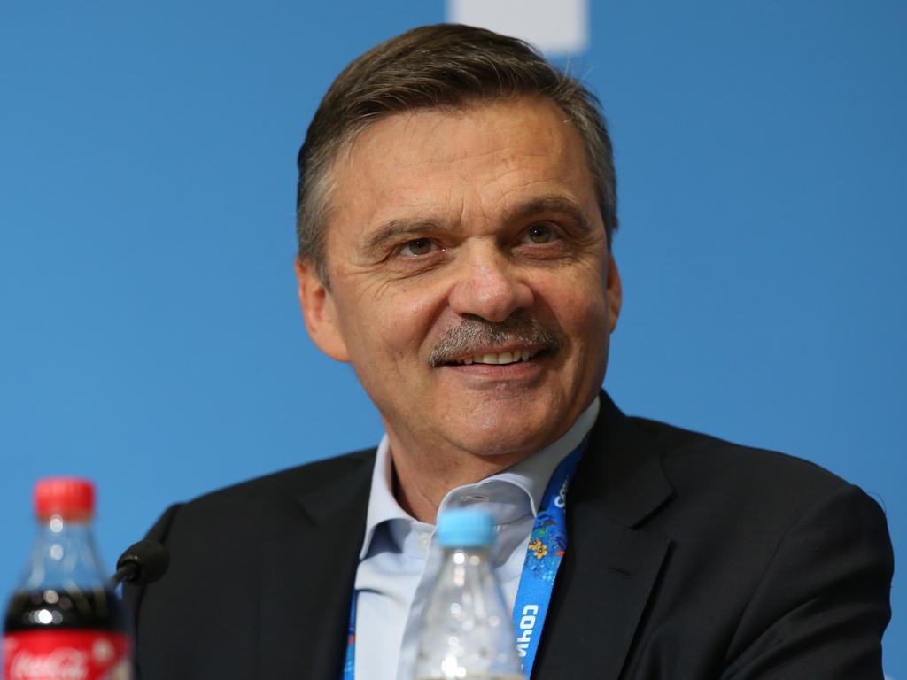 Rene Fasel freute sich über den Finaleinzug der deutschen Eishockey-Mannschaft