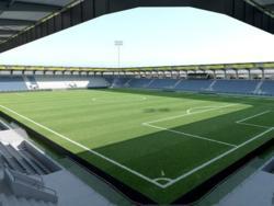 So soll Altachs Cashpoint-Arena nach dem Umbau aussehen. © SCRA