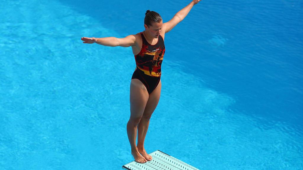 Tina Punzel hat eine Medaille vom 1-m-Brett verpasst