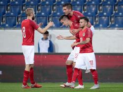Österreichs U21 jubelt gegen Russland