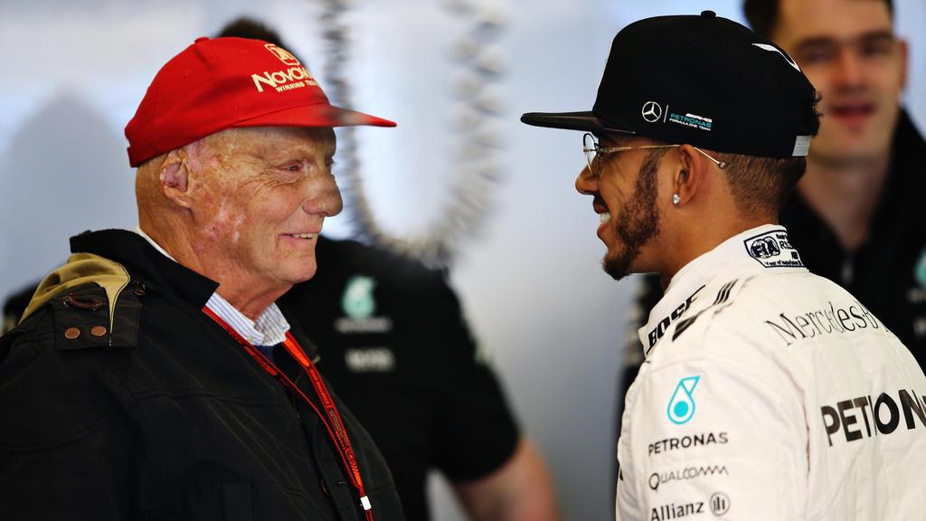 Lewis Hamilton rät Niki Lauda bei seiner Genesung nichts zu überstürzen