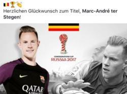 Barça gratuliert ter Stegen mit falscher Flagge (Quelle: twitter)